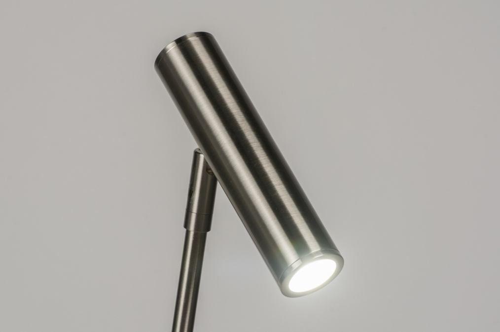 Staande lamp modern design staal rvs rond u ac