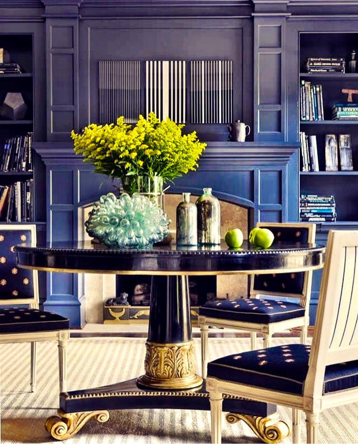 Modern Interior Design Magazine: Modern Gustavian / Louis XVI Acanthus Leaf Round Table