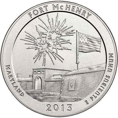 2013 5 oz ATB Fort McHenry Silver Coins from JM Bullion™