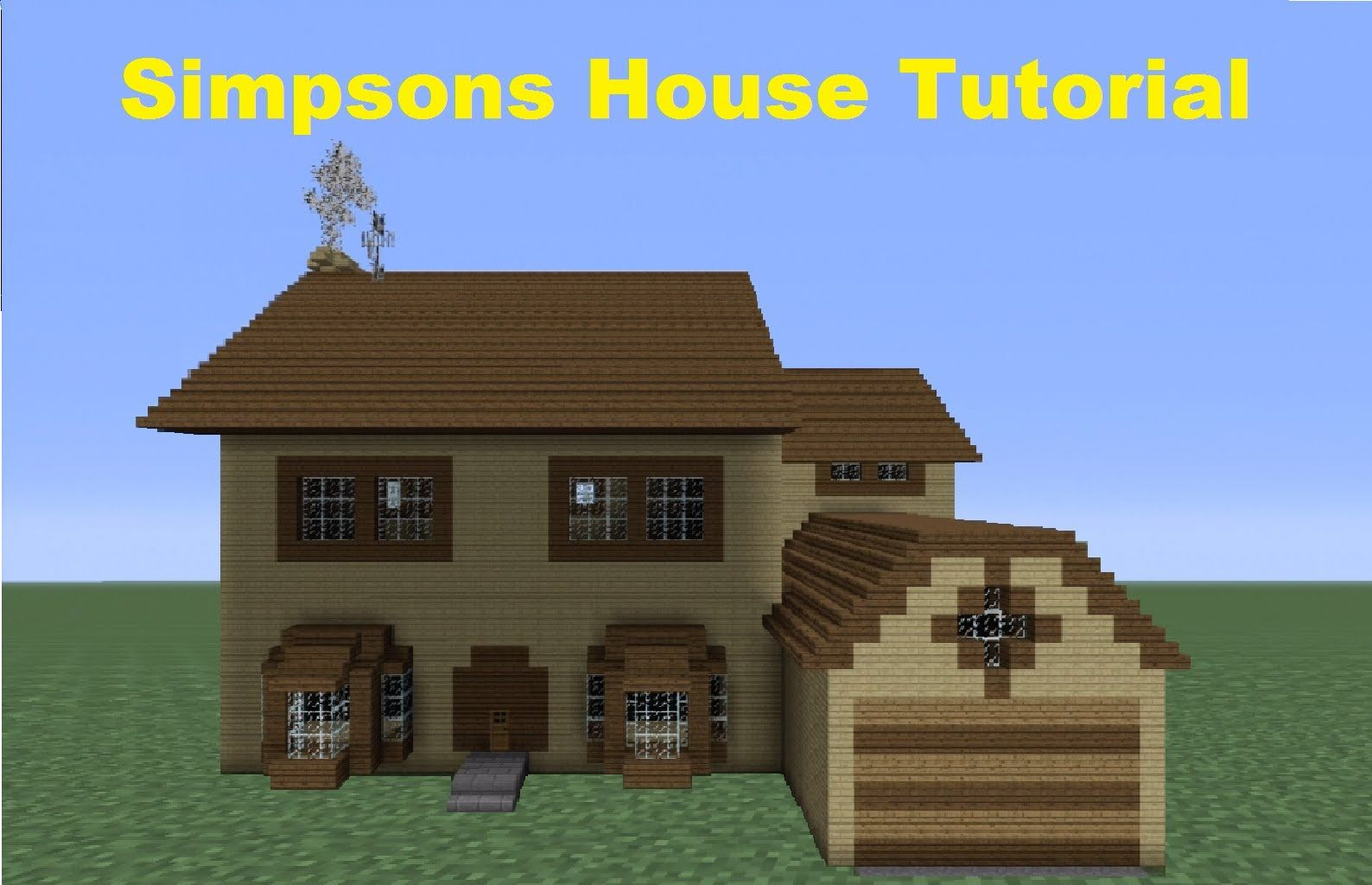 Minecraft 360  How to Build The Simpsons House  House number 4. Minecraft 360  How to Build The Simpsons House  House number 4