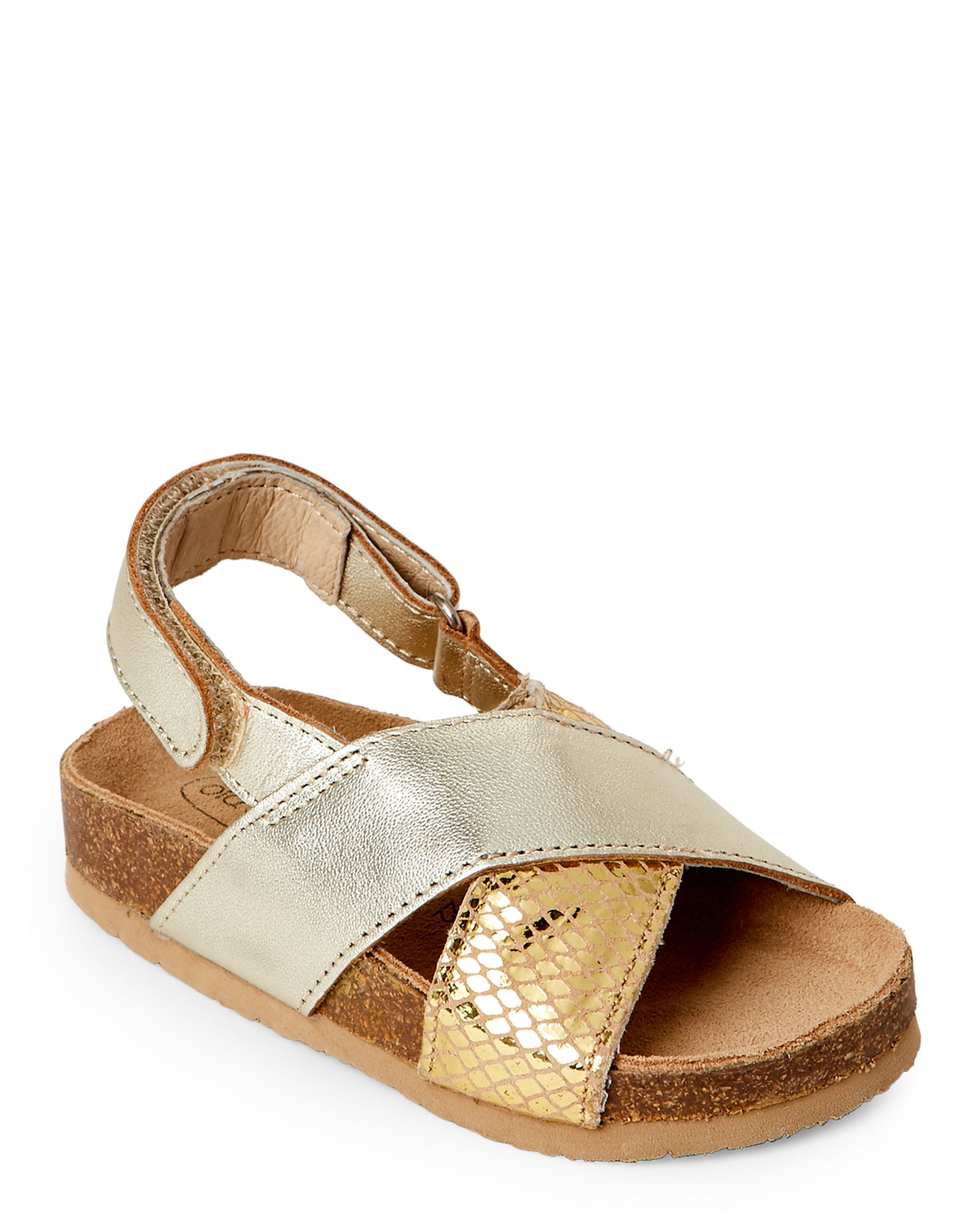 78a16d3fe Old Soles (Toddler Girls) Gold Mantra Crisscross Slingback Sandals