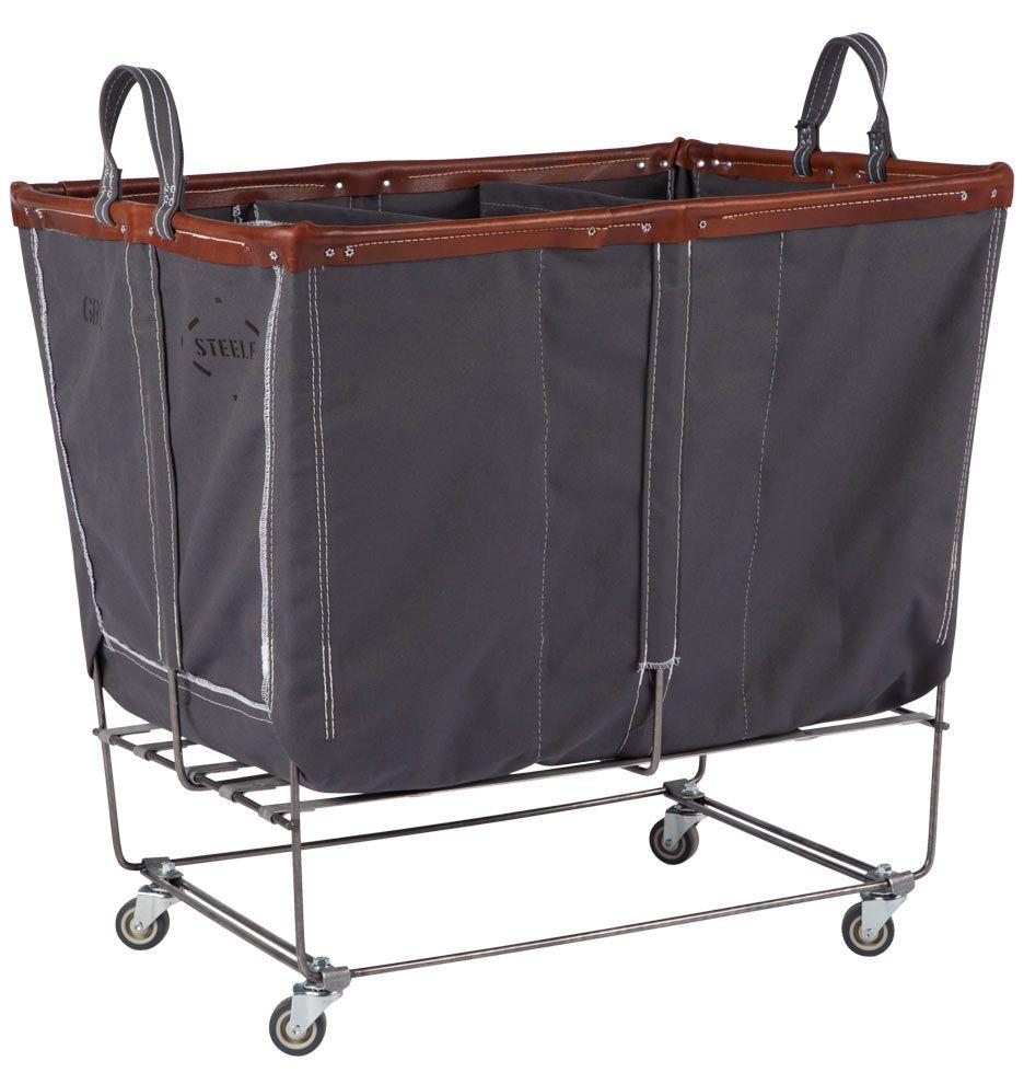 Steele Canvas 6 Bushel 3 Section Laundry Bin Laundry Bin