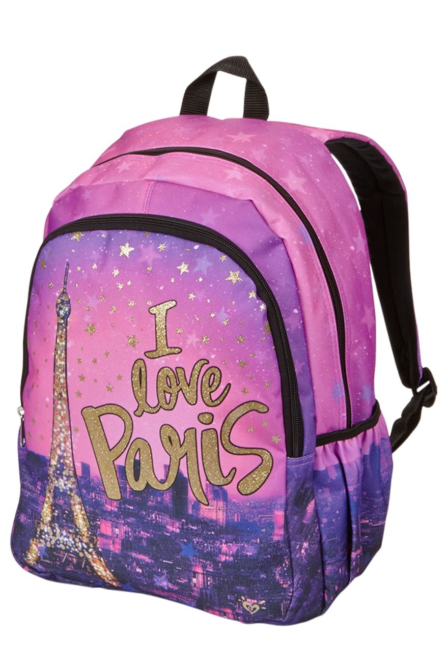 I Love Paris Backpack Original Price 29 50 Available At Justice Girl Backpacks Justice Backpacks Girls Bags