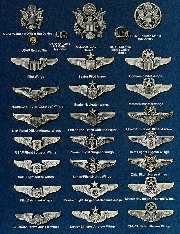 Us Airforce Wings Military Ranks Military Insignia Air Force