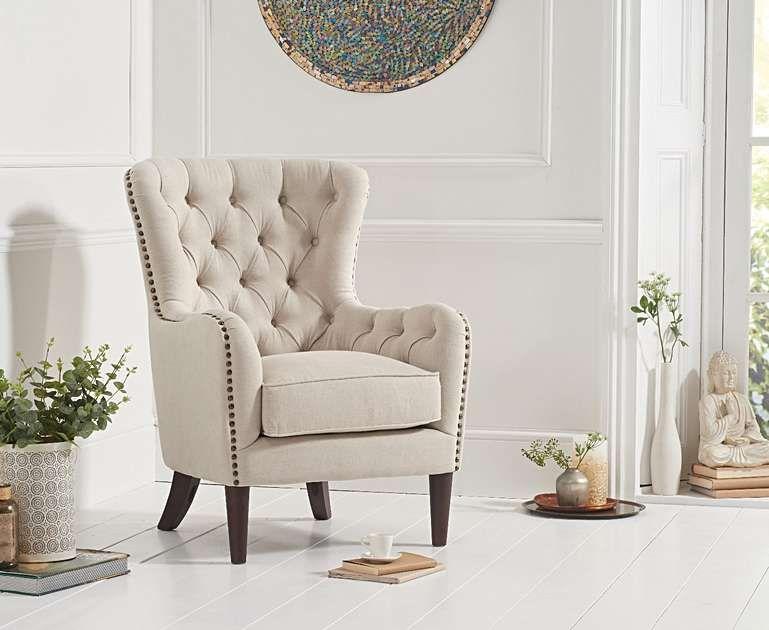 Best Barclay Cream Linen Accent Chair Linen Accent Chairs 640 x 480