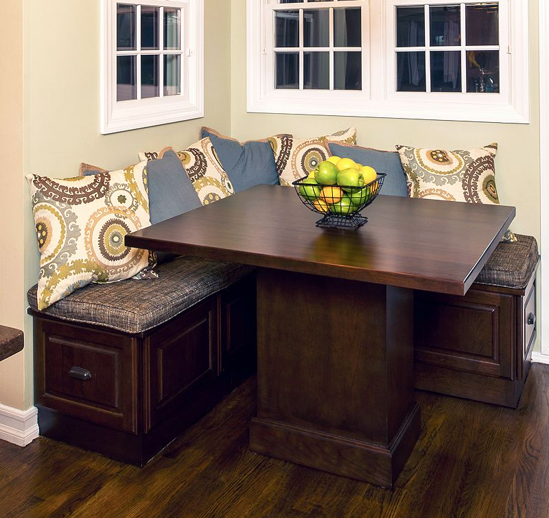 custom kitchen bench seating area corner booth kitchen tablekitchen - Booth Kitchen Tables