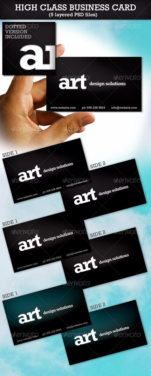 High Class Business Card | High class, Business cards and Business