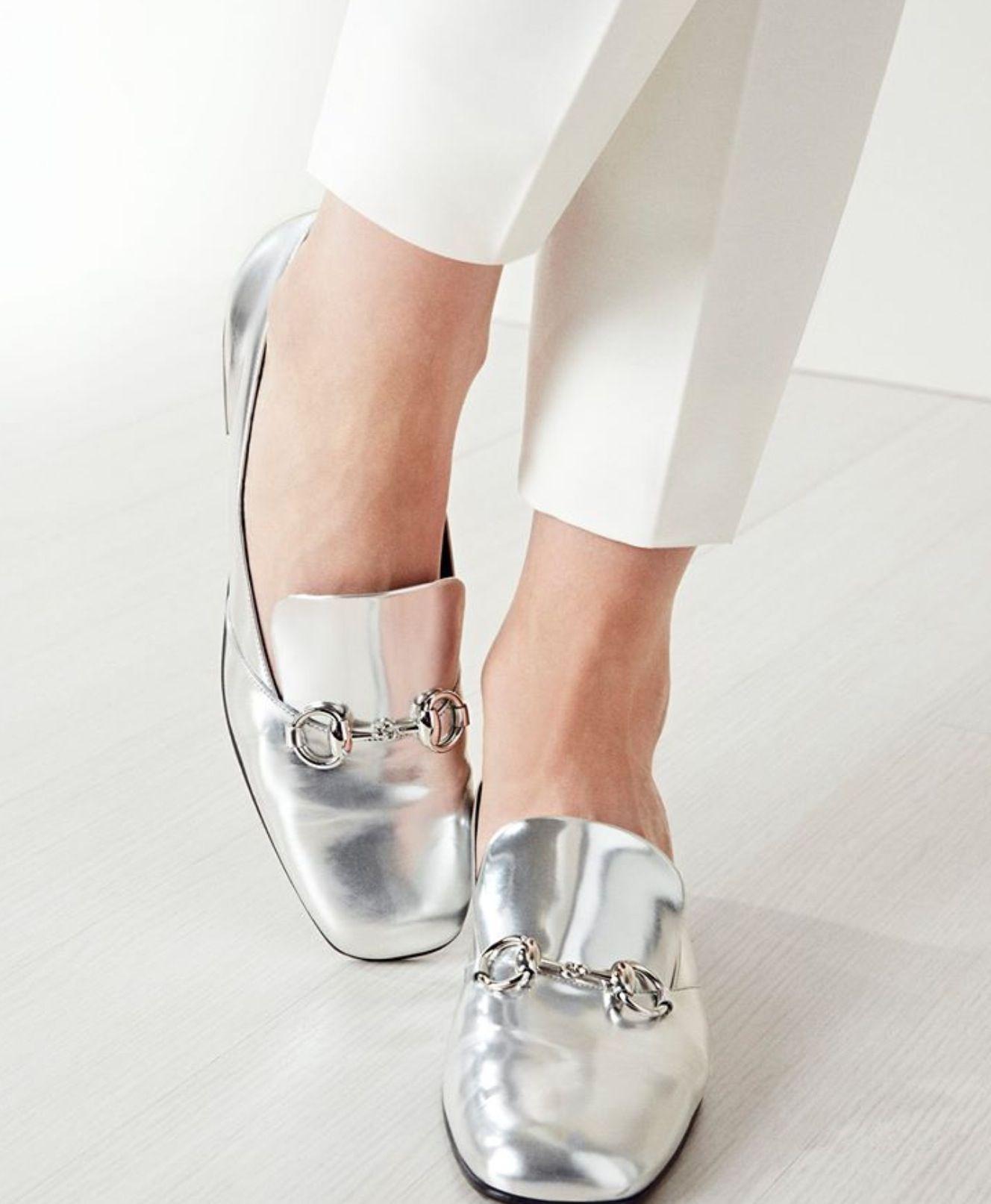 497625a89bd Gucci metallic horsebit loafer