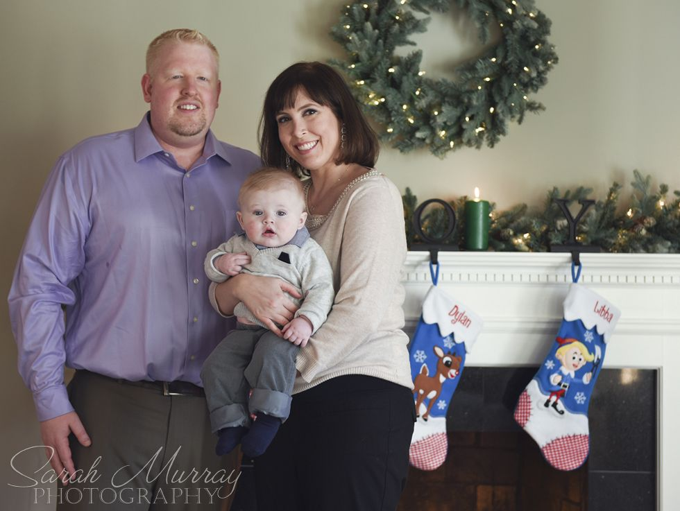 A holiday family session in Needham, Massachusetts - Sarah Murray Photography
