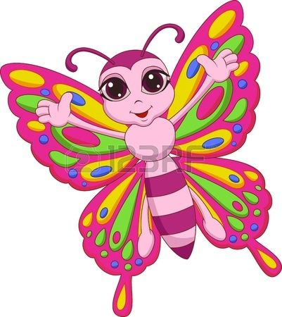 Cute Butterfly Cartoon Dibujos De Mariposas Dibujos Animales Para Imprimir