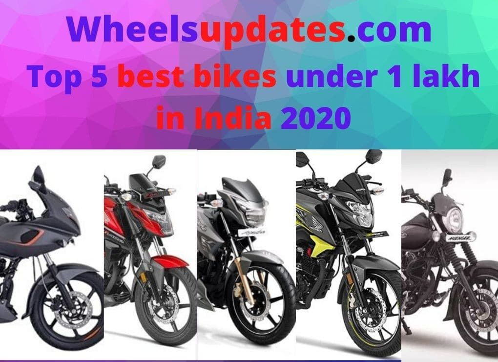 Top 5 Best Bikes Under 1 Lakh In India 2020 In 2020 Honda Cb Bike