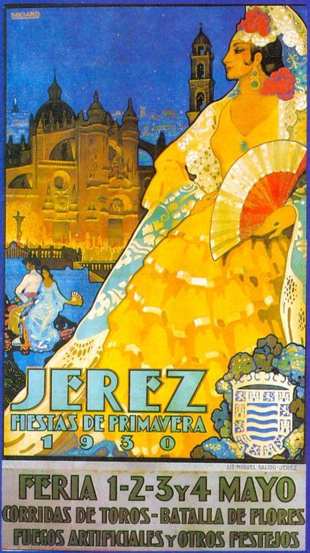 Cartel anunciador de la Feria de Jerez de la Frontera de 1930