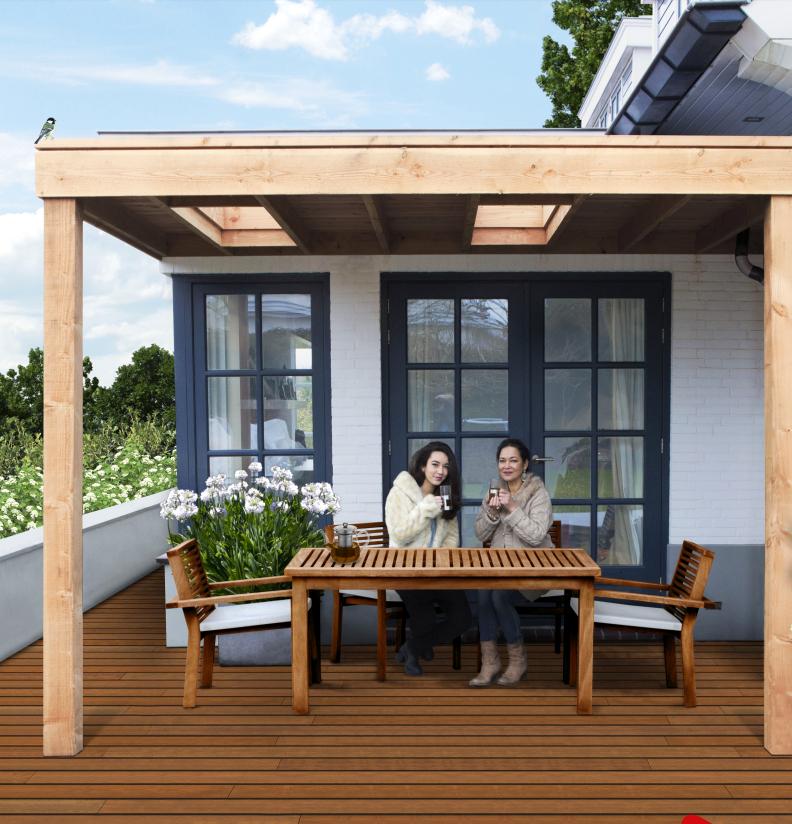 Aanbouw veranda douglas 792 824 home pinterest patios - Veranda modern huis ...
