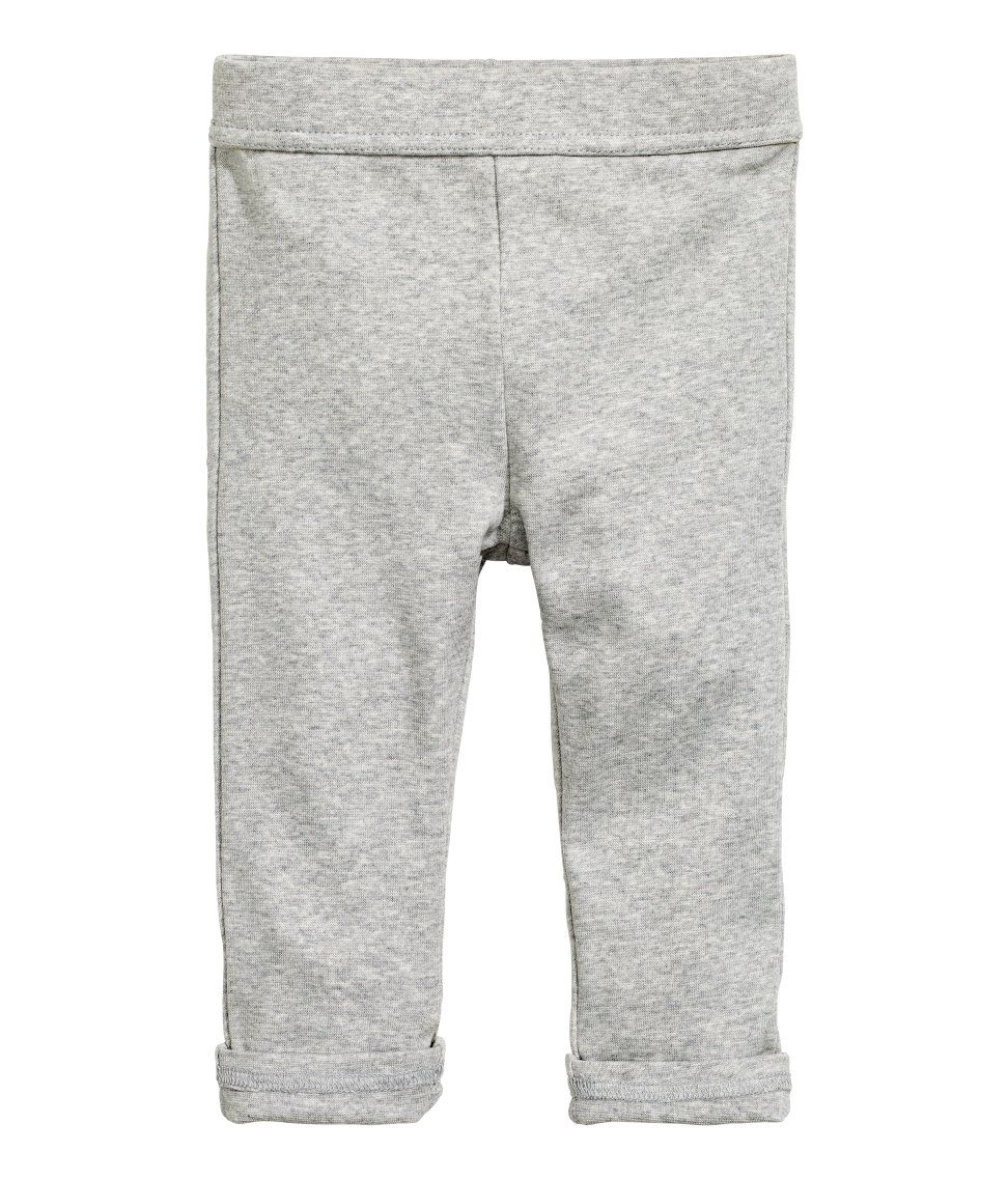 61a1d08c6fda6 Pants in thick organic cotton jersey with an elasticized waistband and back  pockets. - Visit hm.com to see more.