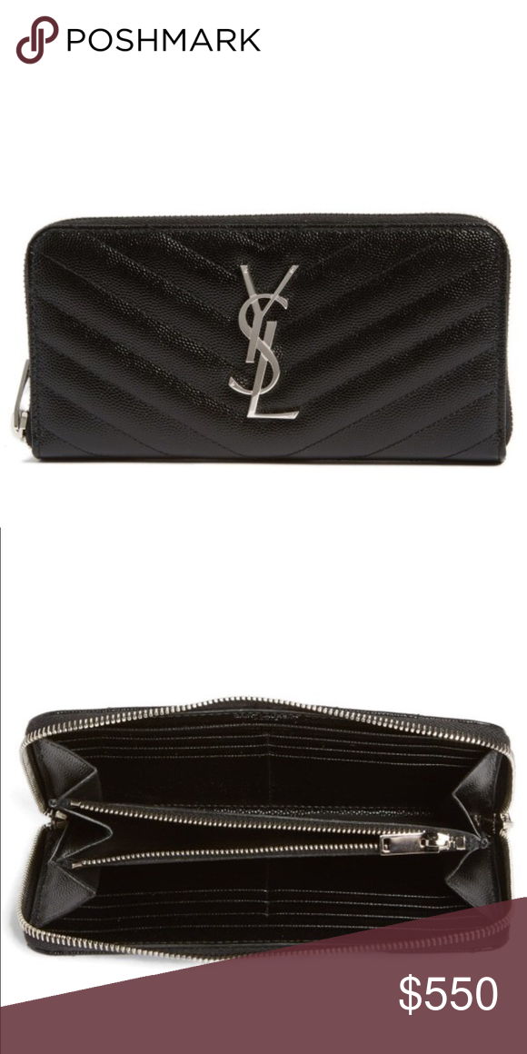 a485c5db39d YSL monogrammed wallet (brand new in box-no trade) Zip around quilted  leather wallet Yves Saint Laurent Bags Wallets