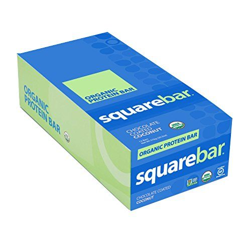 Squarebar Organic Protein Bar Cocoa Coconut, 1.7-ounce Ba…