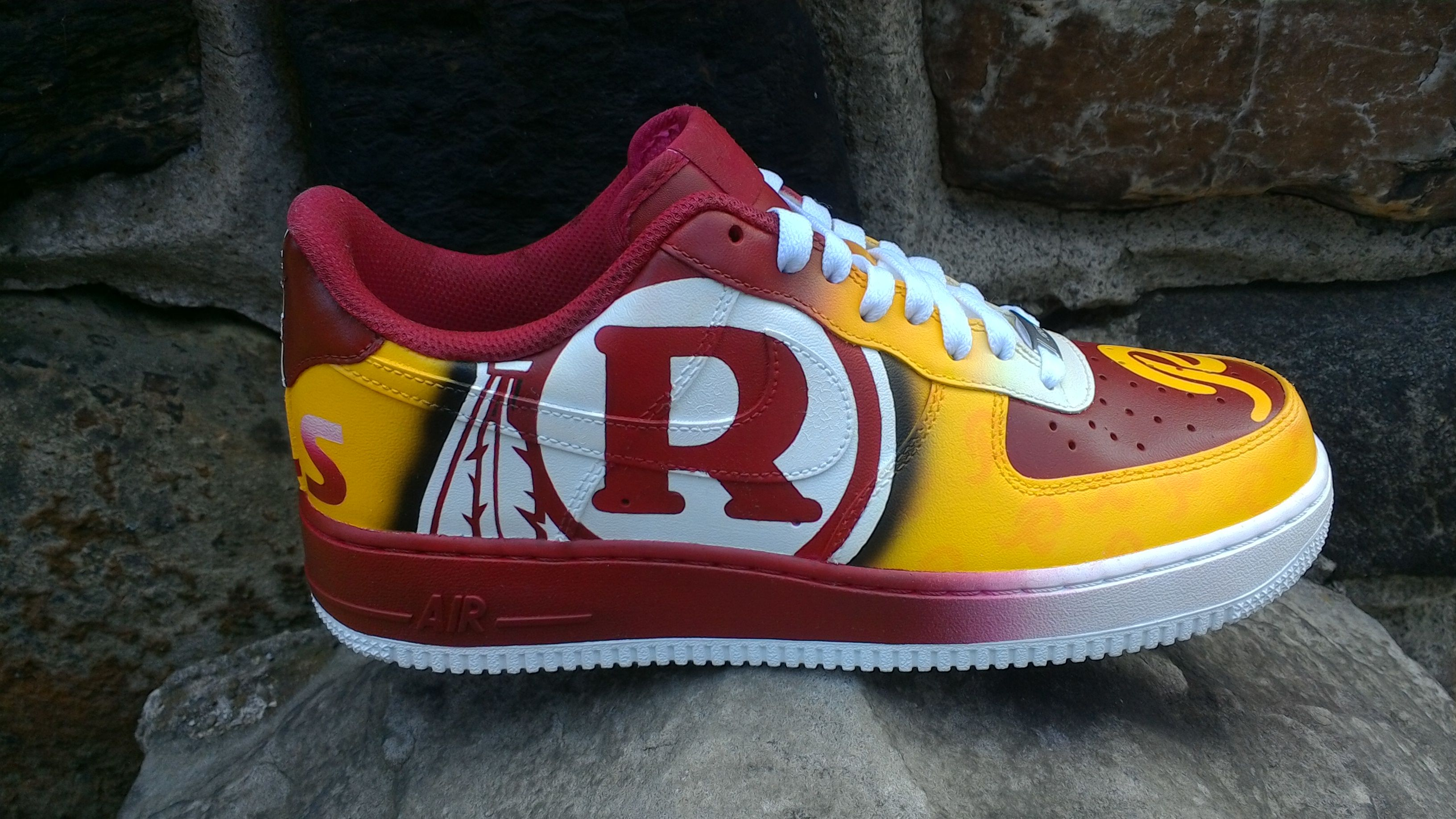 15481650 Custom Painted Washington Redskins sneaker | REDSKINS | Redskins ...