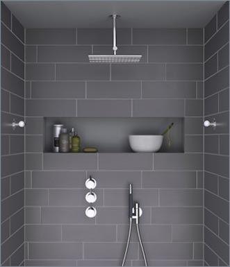 Ya que estáis en obras yo intentaría que os sacaran estos huecos de obra en  las duchas son lo más práctico  ) 548270dc56f3