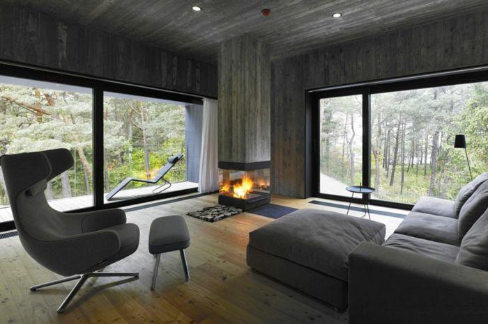 kamin design beton säule ethanol | h o m e | Pinterest | Kamin ...