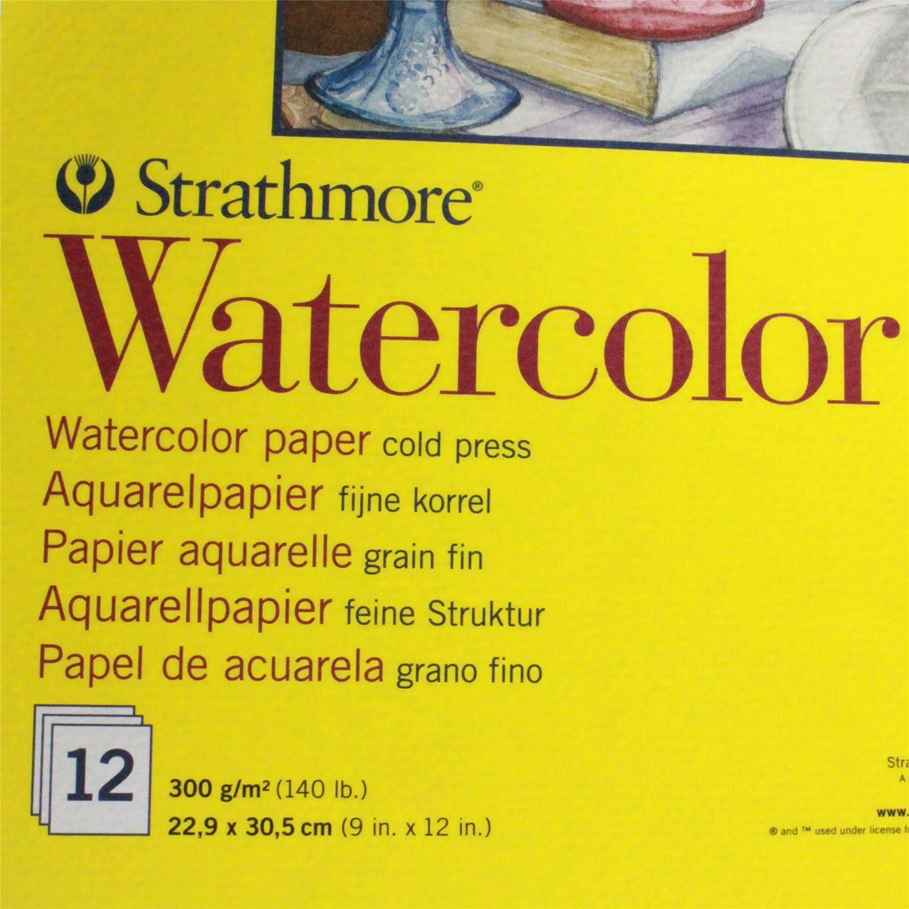 Watercolour Paper Pad Art Paint Paper Strathmore Series 300 9in X