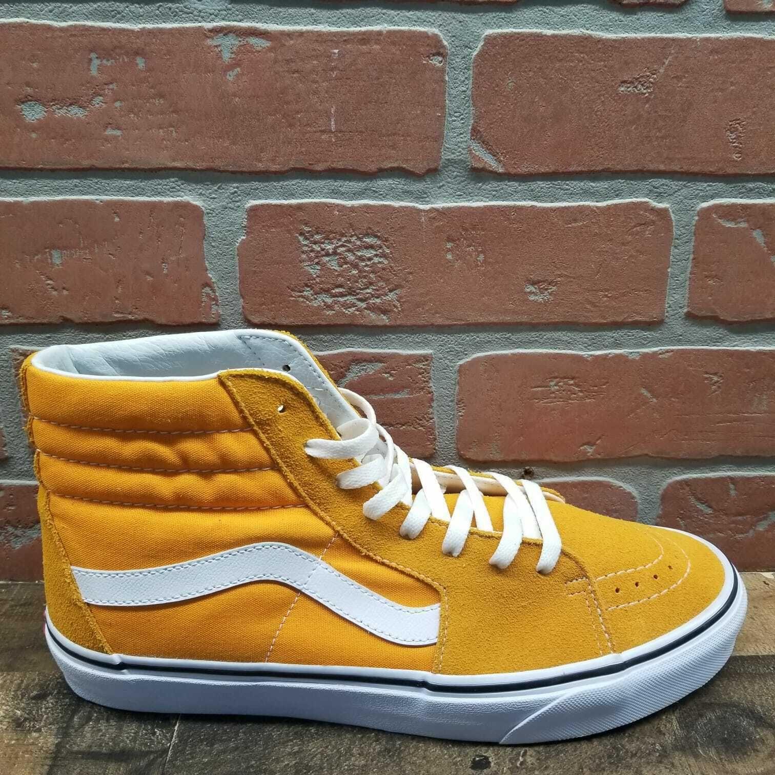 Vans Sk8-Hi Cheddar \u0026 White Skate Shoes