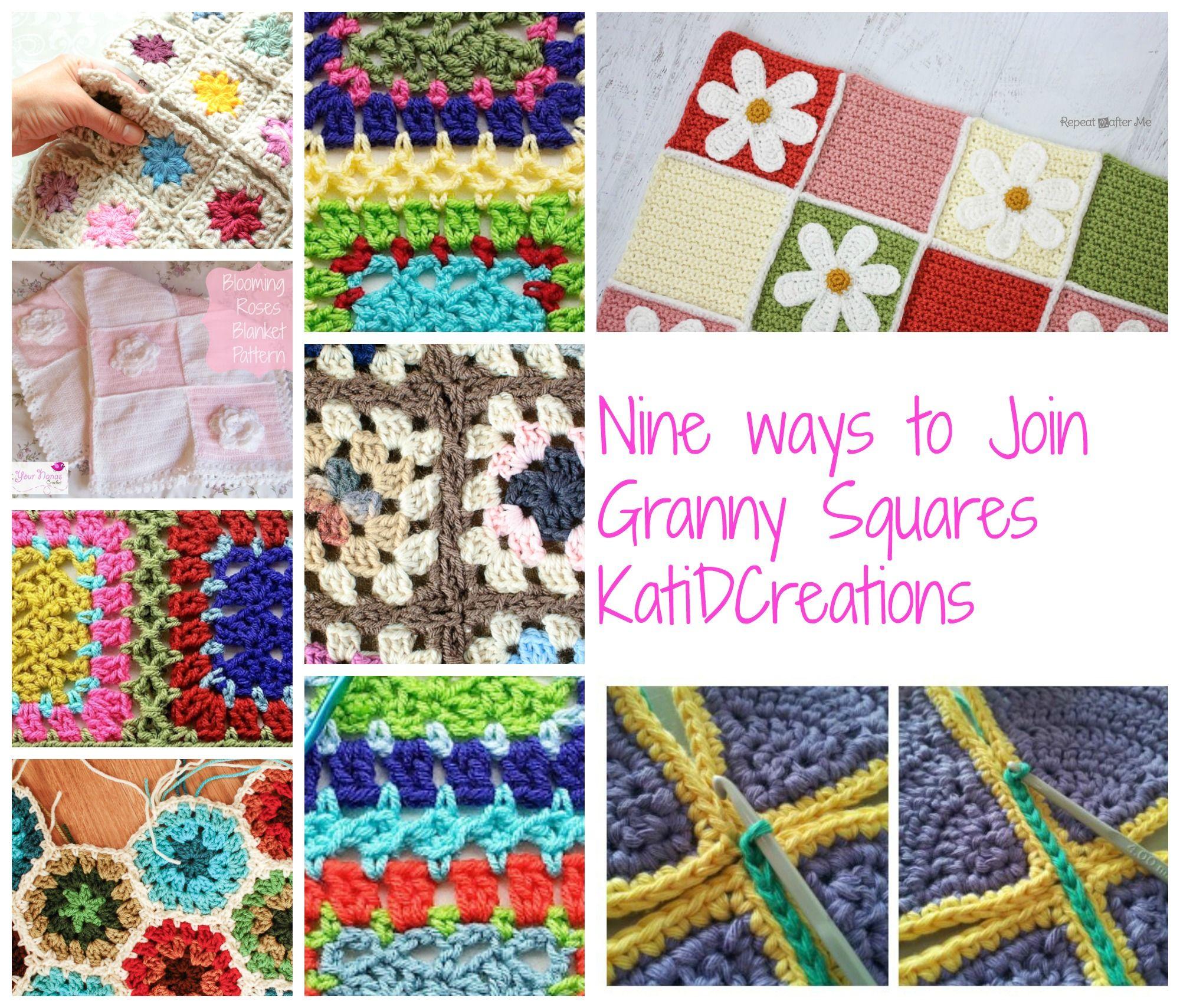 Granny Square Join   Crochet Stuff   Pinterest   Flores ganchillo ...