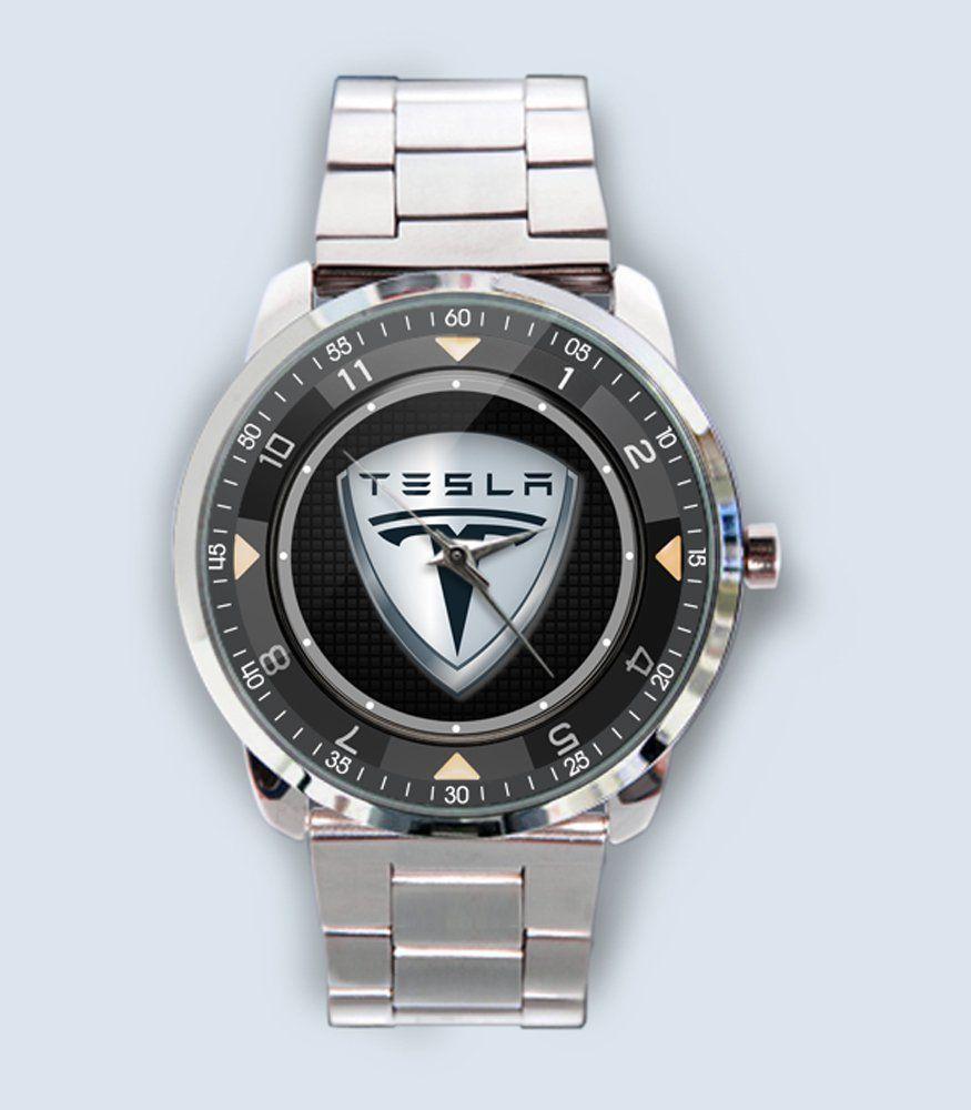 New Tesla Motors Emblem Custom Custom Stainless Steel Wrist Watch Tesla Motors New Tesla Tesla
