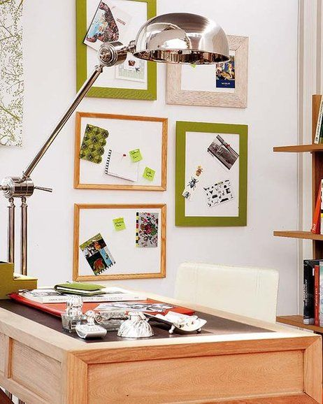 DIY home office organization ideas memory boards frames