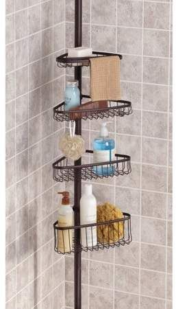 Interdesign York Tension Shower Caddy 2 Bronze With Images