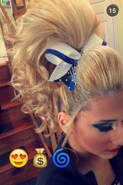 cheer hair   Tumblr