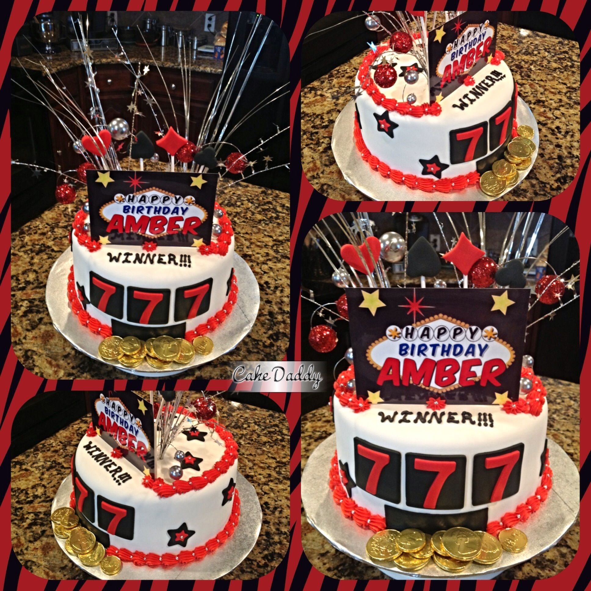Las Vegas themed birthday cake Custom Cakes by Cake Daddy