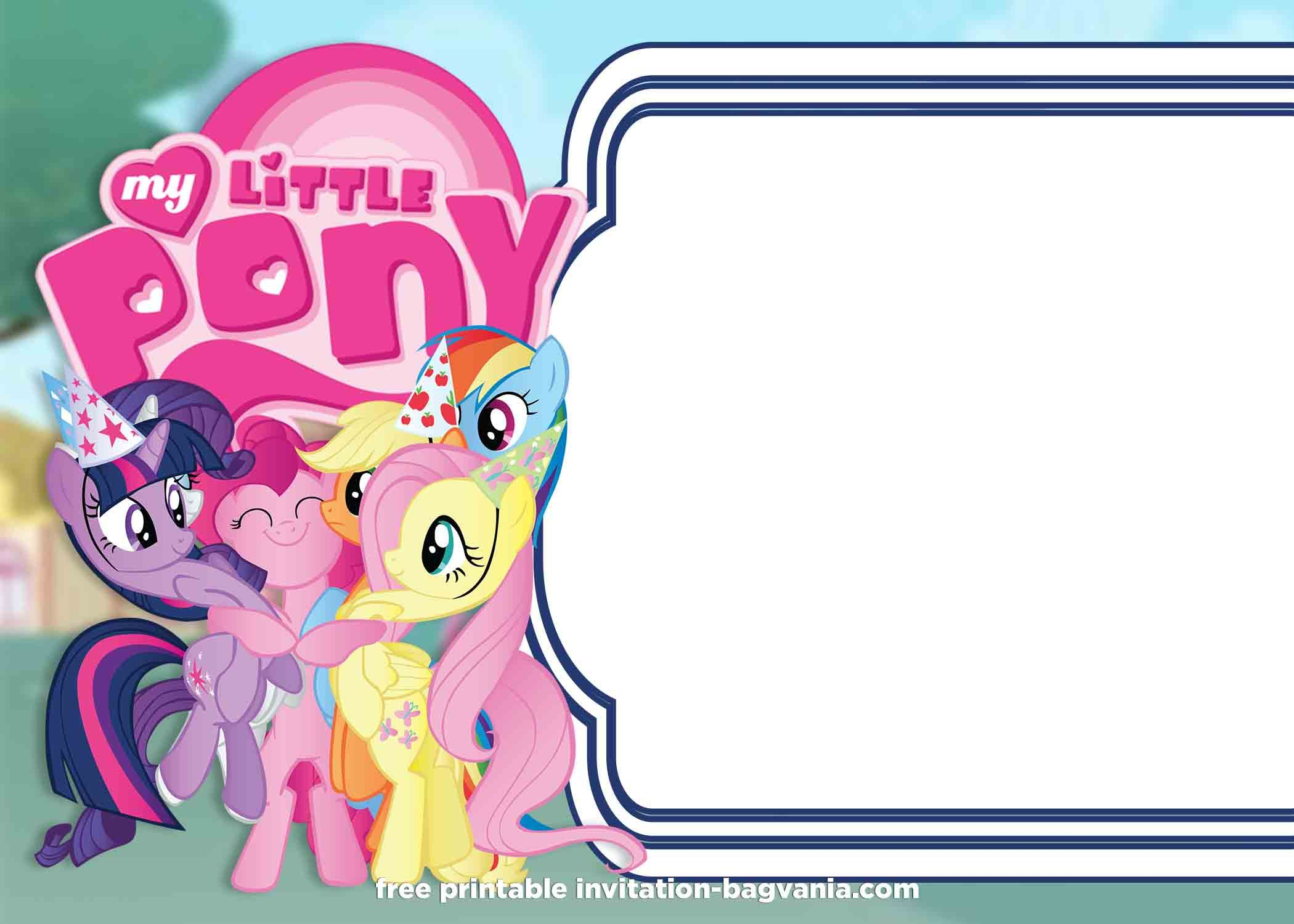 Free Printable My Little Pony Summer Edition Invitations My Little Pony Birthday My Little Pony Little Pony