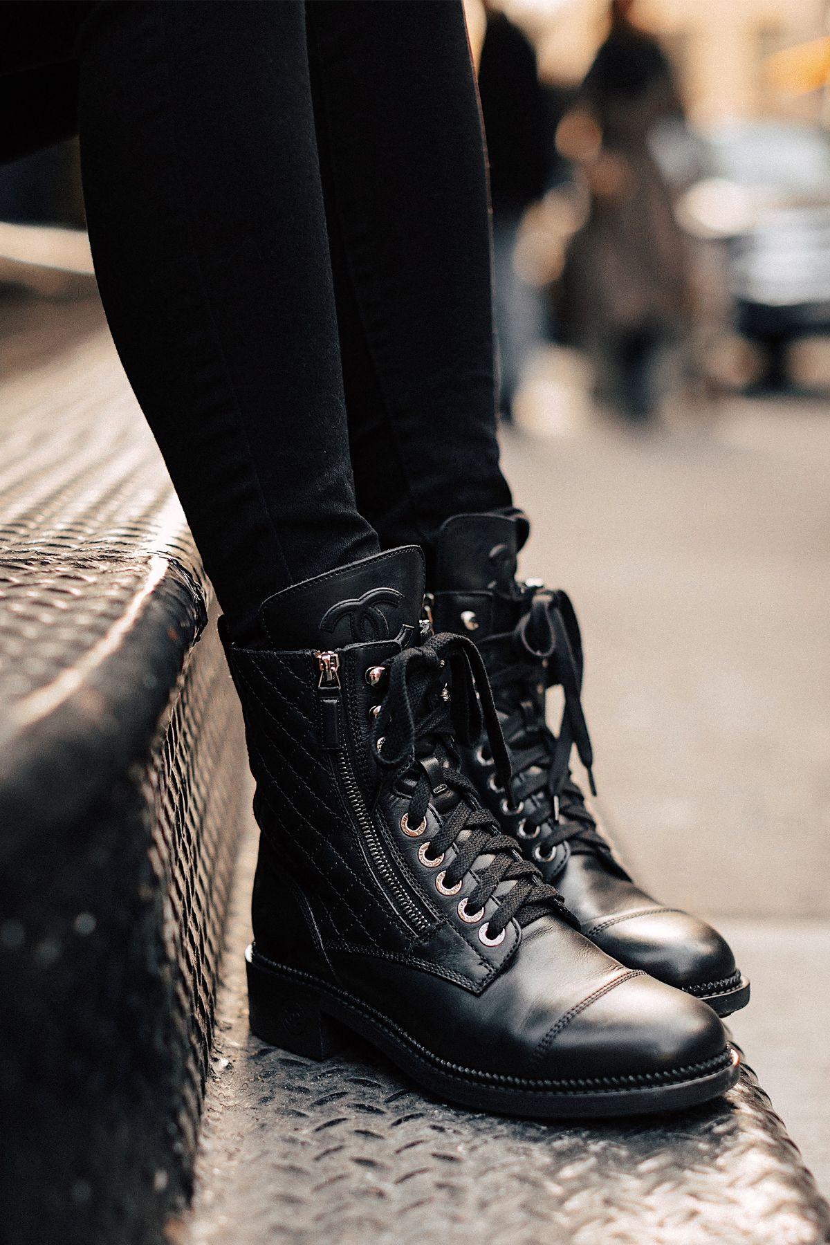 22+ Black leather combat boots womens ideas ideas