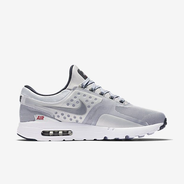 Nike Air Max Zero QS Silver / University Red #Nike #Inside #Sneakers