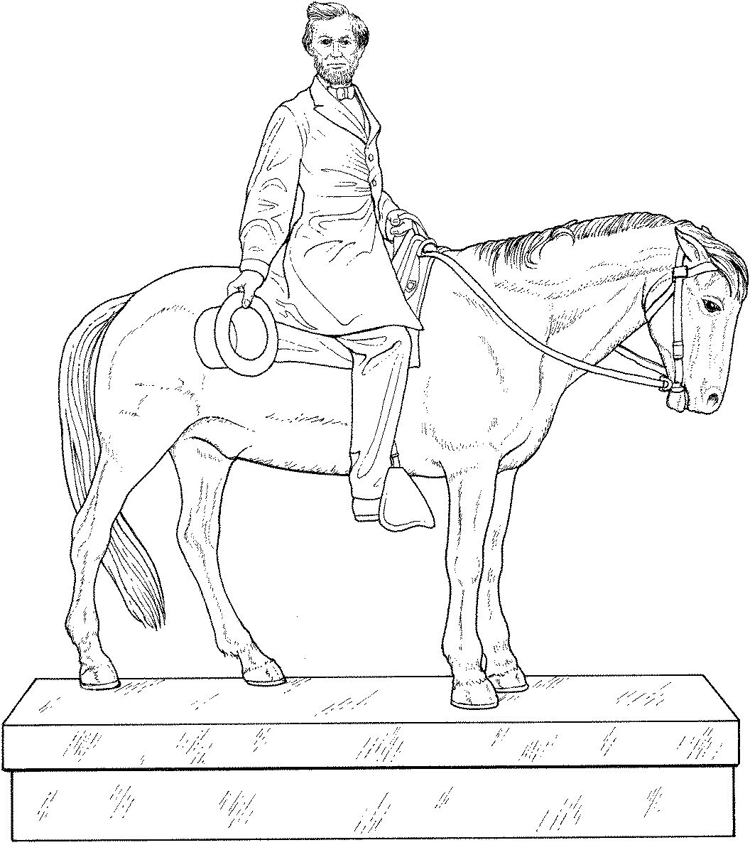 Abraham lincoln horse coloring book