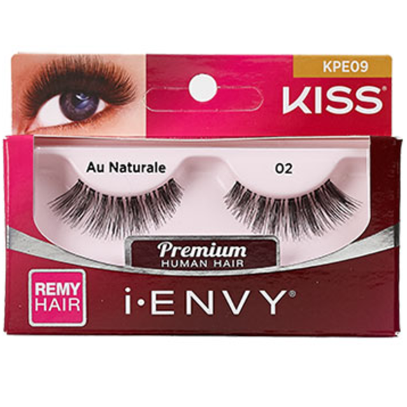 3820b59d62b Kiss i-ENVY Premium Human Remy Hair Eyelashes 1 Pair Pack - Au Naturale 02  #KPE09 $2.69 Visit www.BarberSalon.com One stop shopping for Professional  Barber ...