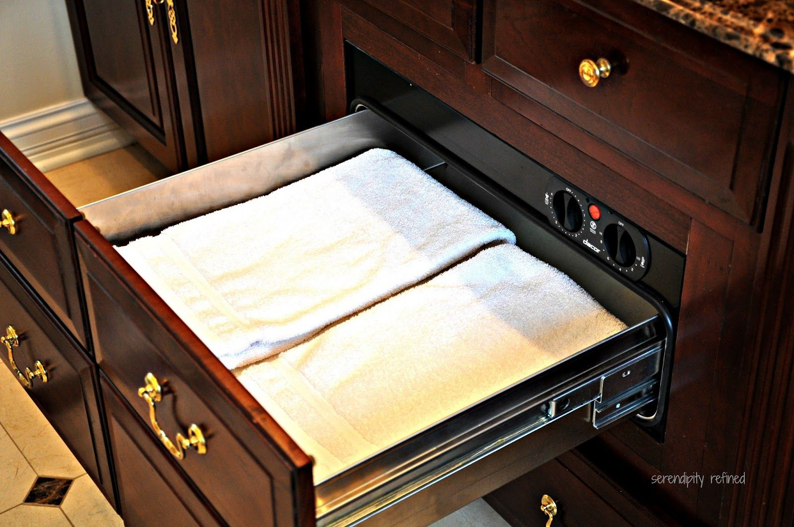 Master Bathroom Towel Warming Drawer By Serendipity Refined Bathroom Technology Home Upgrades Warming Drawer