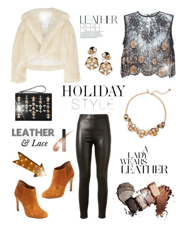 """""""Leather Pants!"""" by diane1234 ❤ liked on Polyvore featuring Yves Saint Laurent, Alessandra Rich, Toga, Kate Spade, Marni, Elorie and Julie Hewett"""