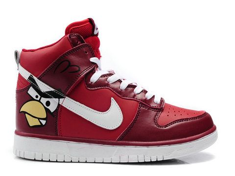 lower price with 71d4c 36ee8 Nike Dunk High Custom Angry Birds Red White