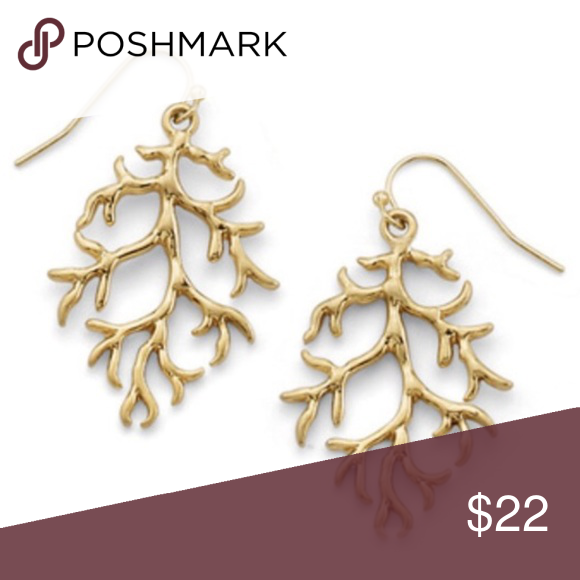 Branch Out Earrings Branch out with these gold tone statement earrings. Perfect fun addition to any outfit. New with tags and gift box! Jewelry Earrings
