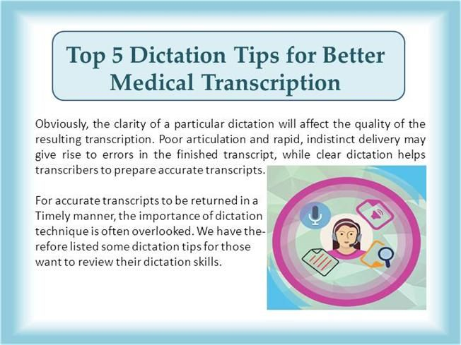 There Are Many Options For Recording Your Dictation But A Good