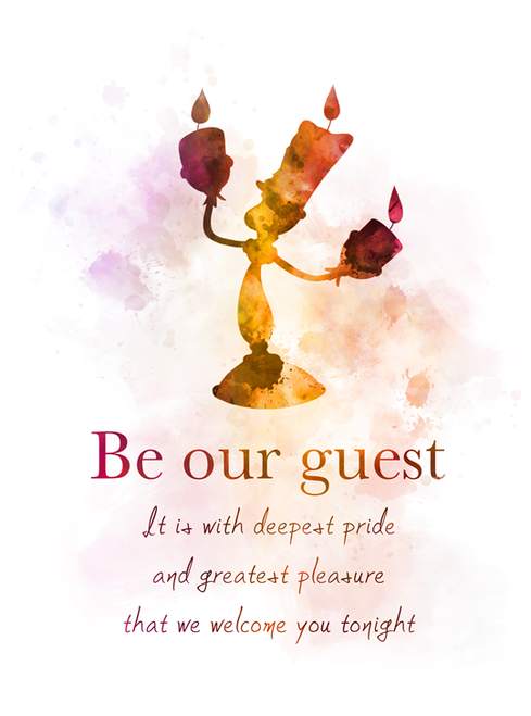 Beauty And The Beast Quote Art Print Be Our Guest Lumiere Song Gift Wall Art Home Decor Disney Gift Art Prints Quotes Beast Quotes Beauty And The Beast