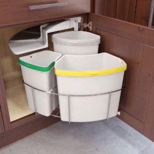 Oko Center 3 Under Sink Trash Recycling Station