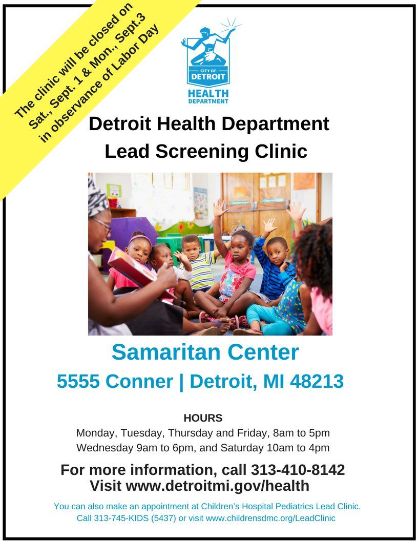 Sisterfriendsdetroit On Health Department Clinic