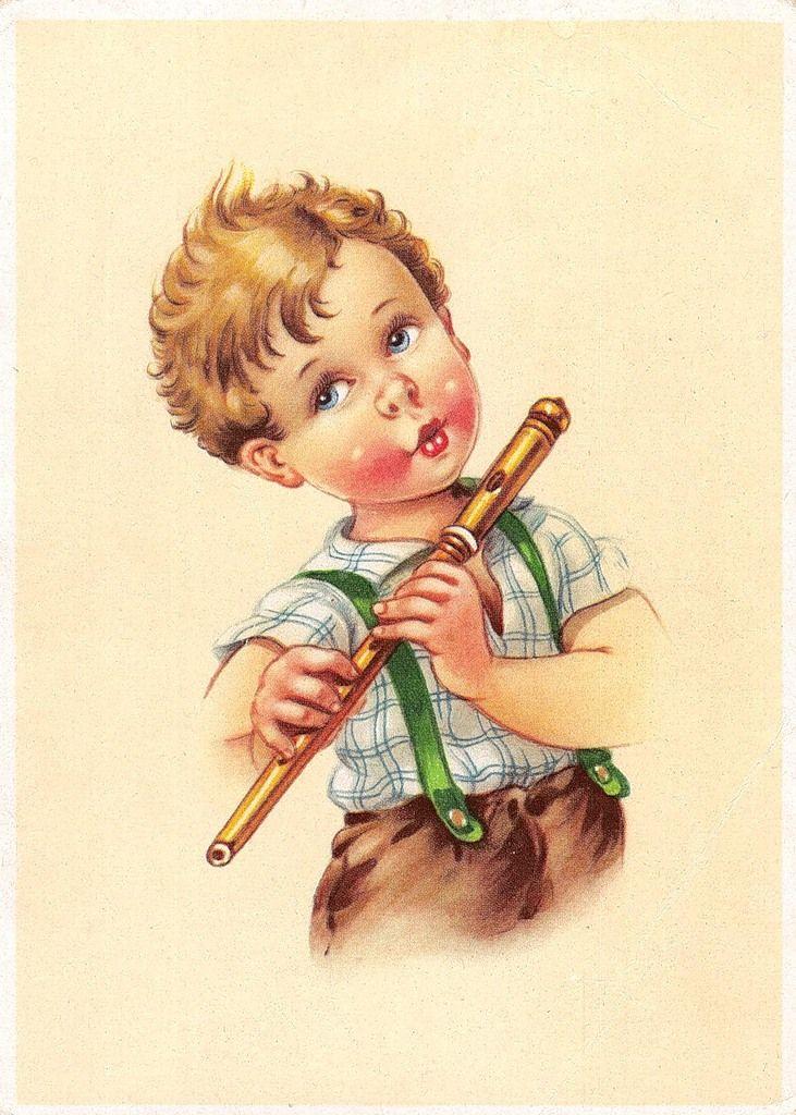 Днем рождения, мальчик со открытки
