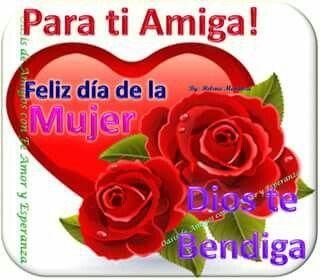 Pin De Marleny Montoya Sierra En Amigas Feliz Dia De La Mujer Dia De La Mujer Feliz Dia C.) te deseo un año lleno de minutos de amor, felicidad y alegría. pinterest
