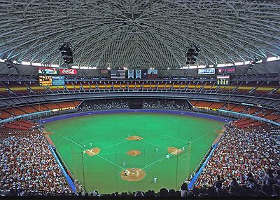 Astrodome Oh The Memories Of Rodeos Oilers Games And The Old Blue And Orange Playing Here My Childhood Baseball Park Baseball Stadium Ballparks
