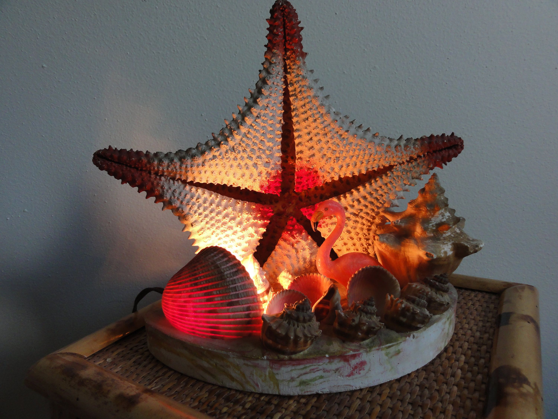 Mid Century Kitsch Florida Or Beach Theme Night Light Tv Lamp
