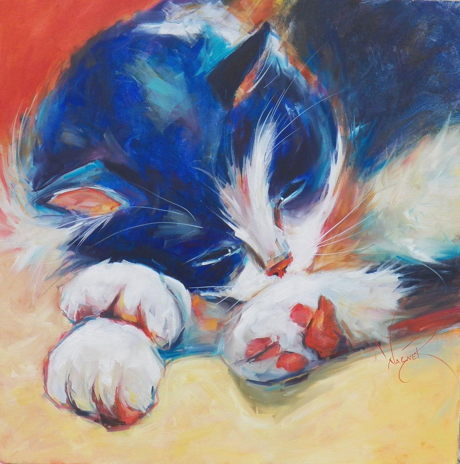 paints of cats - Google Search