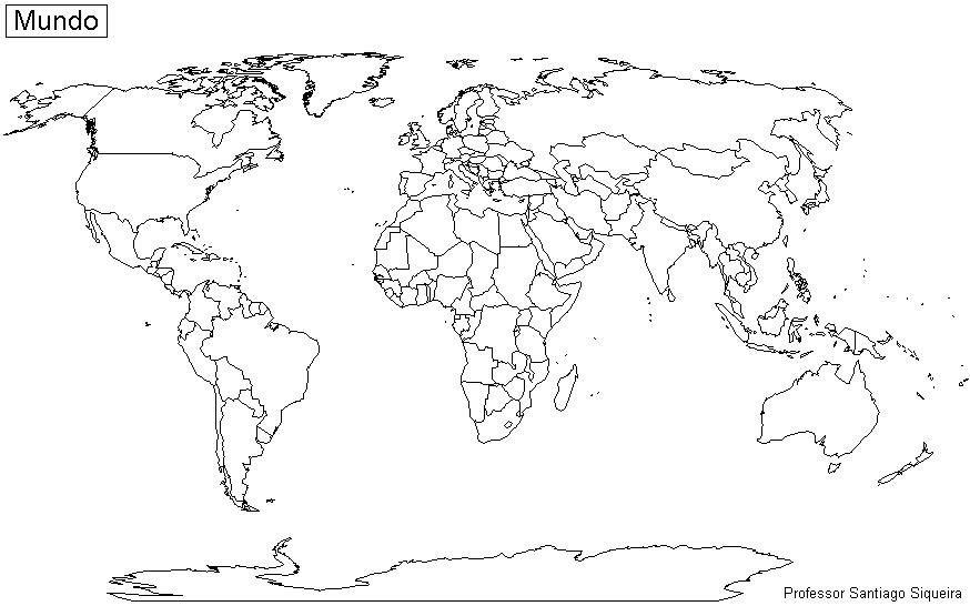 Mapa Del Mundo Para Dibujar: Resultado De Imagen Para Mapa Del Mundo Para Colorear En